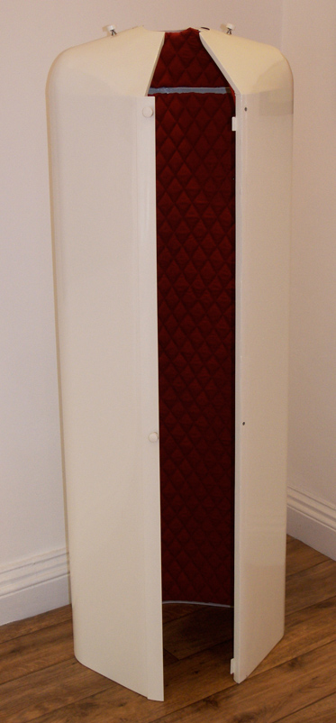 Priestess - Steel, enamel and fabric - 54cm x 150cm x 35cm
