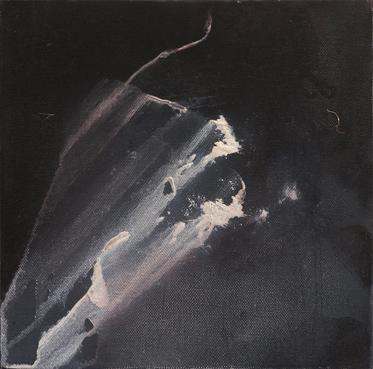 Sparks - Oil on canvas - 25cm x 25cm