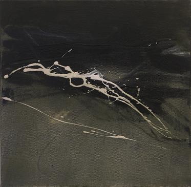 Free Fall - Oil on canvas - 25cm x25cm